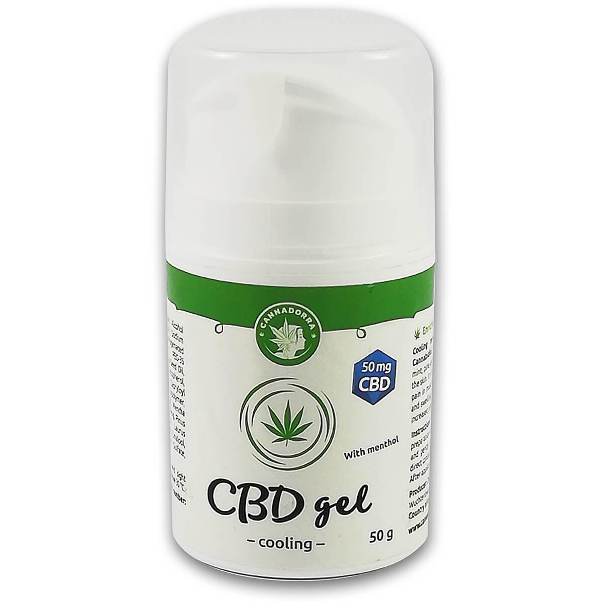 Ψυκτικό gel με CBD και μενθόλη