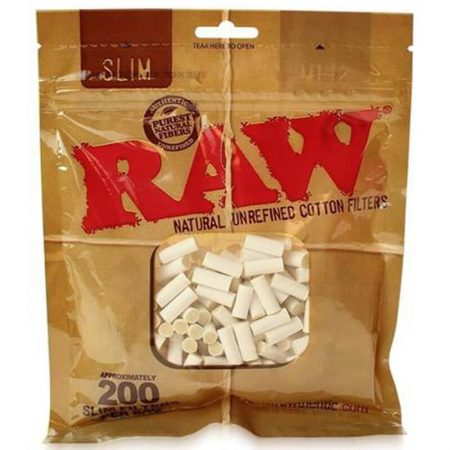 RAW Slim 6mm Cotton Filter Tips