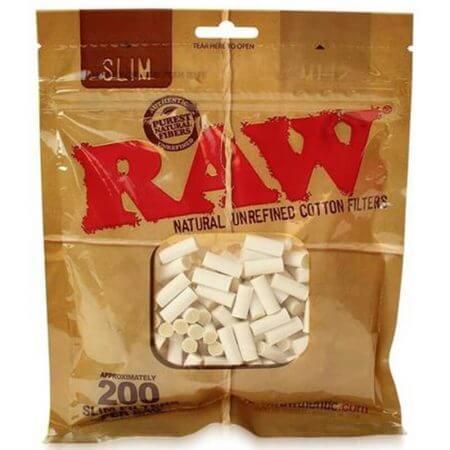RAW Slim 6mm Cotton Filter Tips