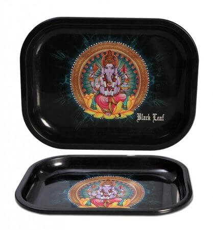 Black Leaf Rolling Tray Ganesha S